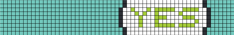 """Mosaikk som danner snakkeboble med ordet """"YES"""""""