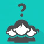 Ikon - tre lever med et stort spørsmålstegn over hodene