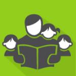 Ikon - voksen leser for tre barn